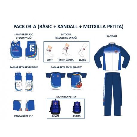 PACK 03-A (BÀSIC + XANDALL + MOTXILLA PETITA)