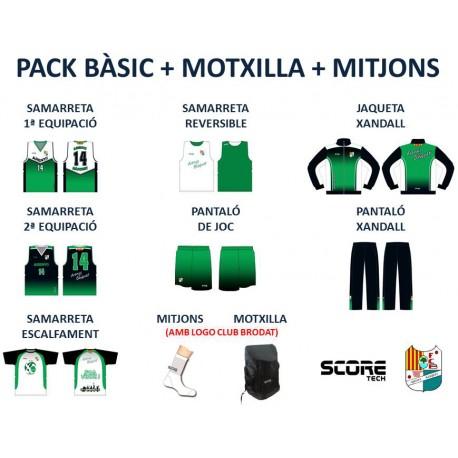 PACK BÀSIC + MOTXILLA + MITJONS