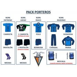 PACK COMPLETO FUTBOL BASE (PORTEROS)