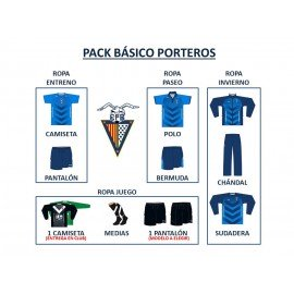 PACK BÁSICO FUTBOL BASE (PORTEROS)