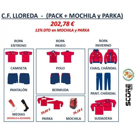 PACK + MOCHILA + PARKA