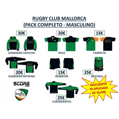 PACK COMPLETO MASCULINO